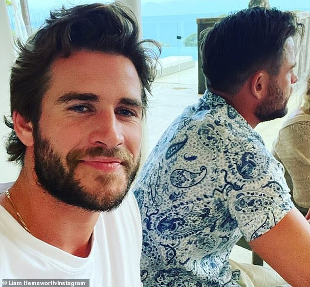 Brother's Time: On Friday, Liam, 30, (left) shared a selfie with his avenger brother sitting next to him at a family dinner on Instagram