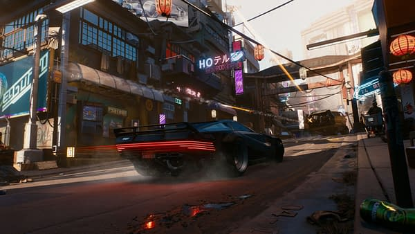Seems like the only thing I have to get around town is this very expensive car.  Courtesy of CD Projekt Red.
