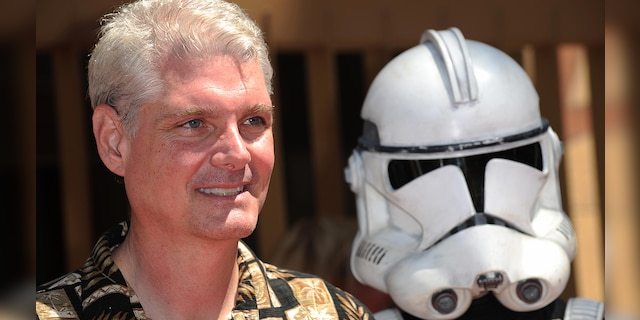 Actor Tom Kane, voiced by Yoda, at the US premiere of Star Wars The Clone Wars in Hollywood, California, on August 10, 2008.