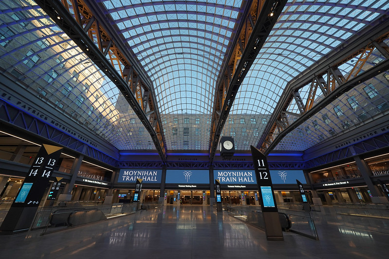 Moynihan Train Hall at Penn Station is officially open to the public, in Midtown Manhattan