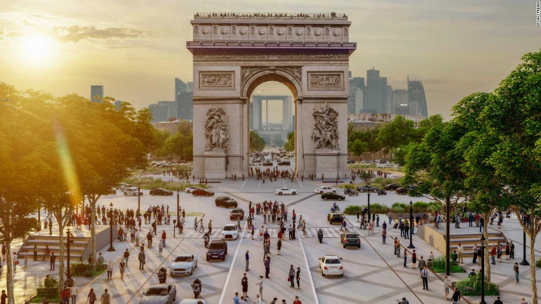 The famous Champs Elysees of Paris prepares for a radical reform