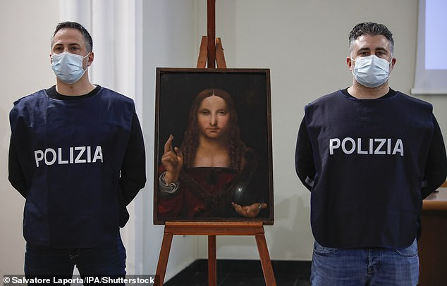 """Da Vinci's painting """"Salvatore Mundi"""" was found stolen from the Cathedral of Naples in a local apartment"""