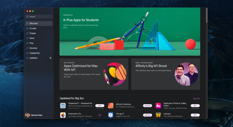 Mac App Store - The only place where you can easily get iOS and iPadOS apps for Mac.